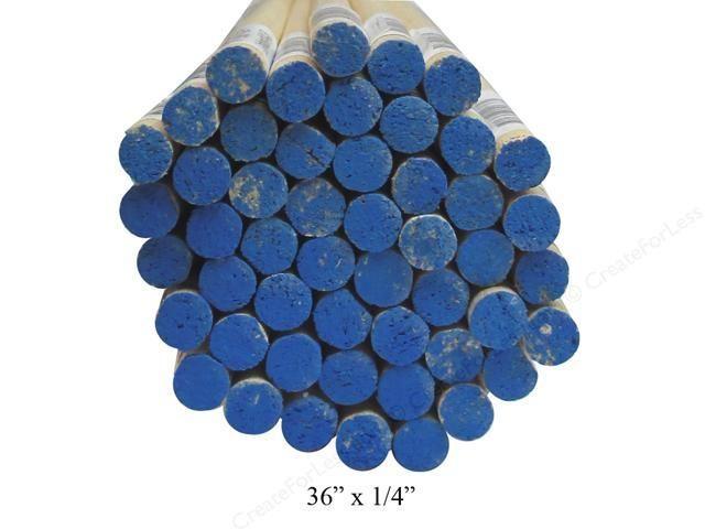 1/4'' Wooden Dowel Blue