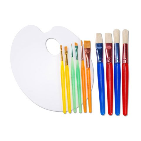11pc Brush And Palette Set