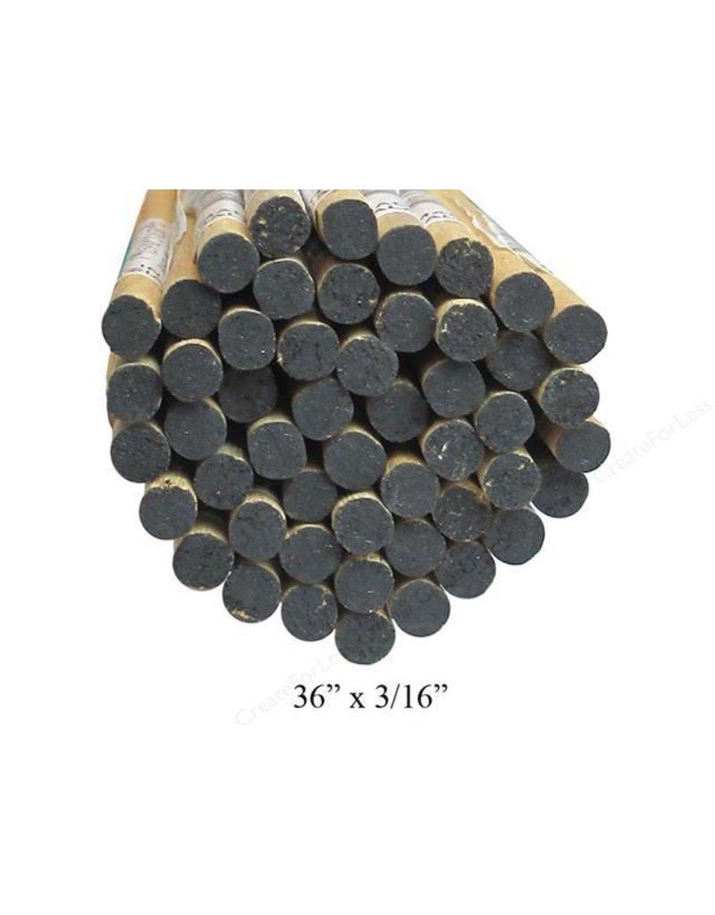 3/16'' Wooden Dowel Black