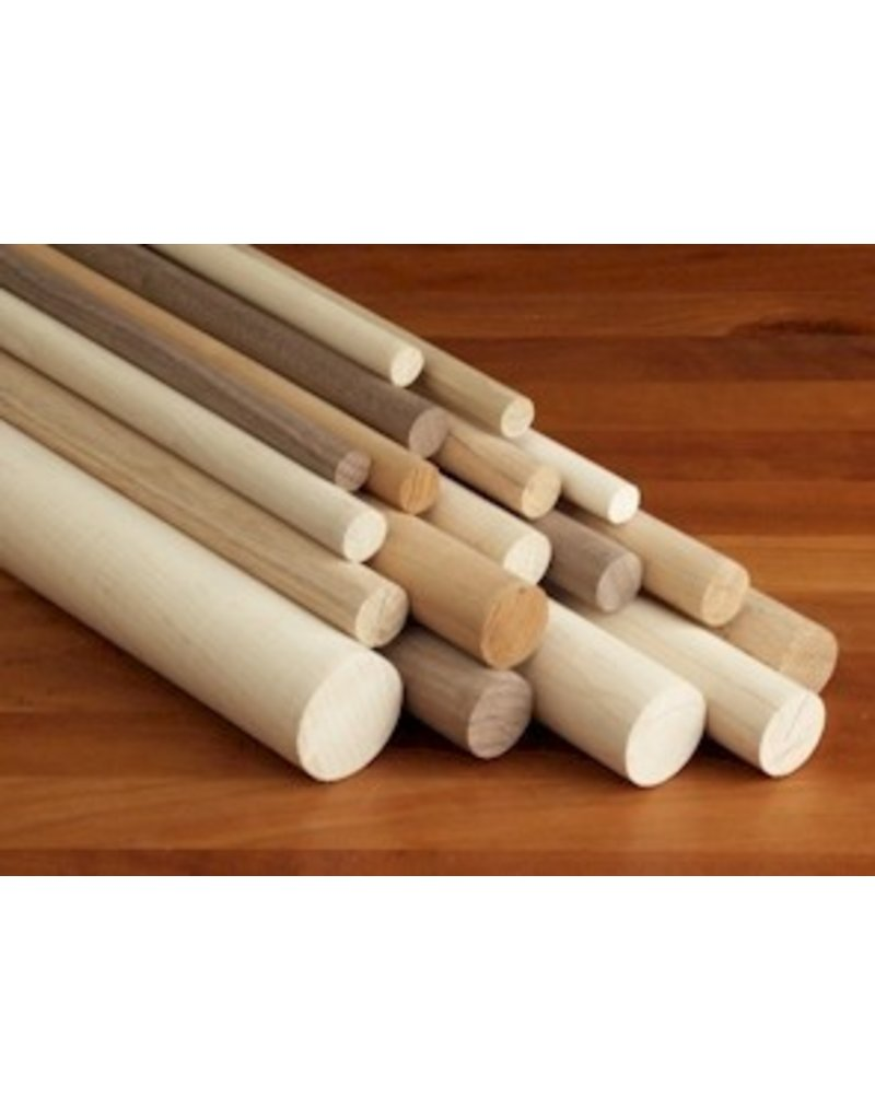 3/4'' Wooden Dowel Red