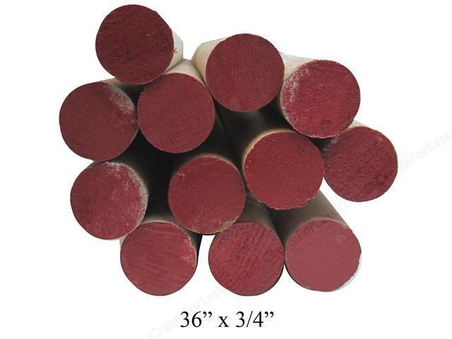 3/4'' Wooden Dowel Red