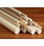 3/8'' Wooden Dowel White/Orange