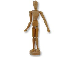 4-1/2in Wooden Manikin