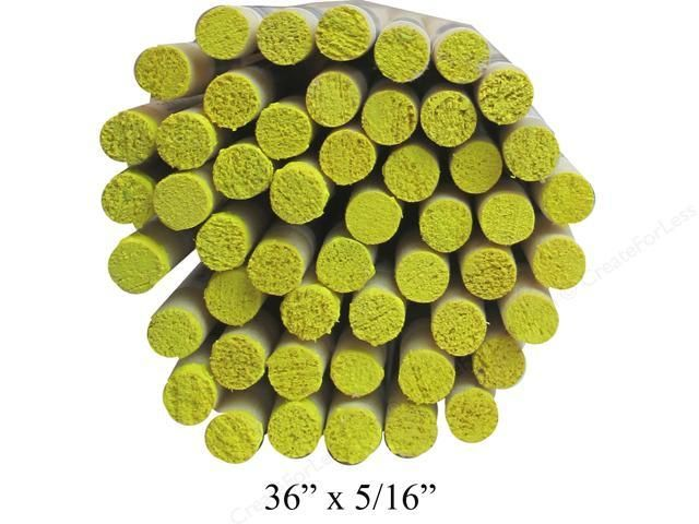 5/16'' Wooden Dowel Yellow