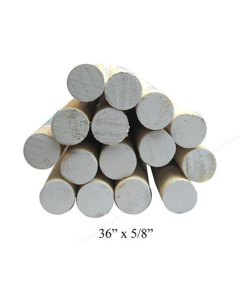 5/8'' Wooden Dowel Gray