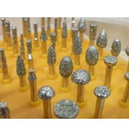 50pc Diamond Burr Set 1/8 Shank 40 Grit