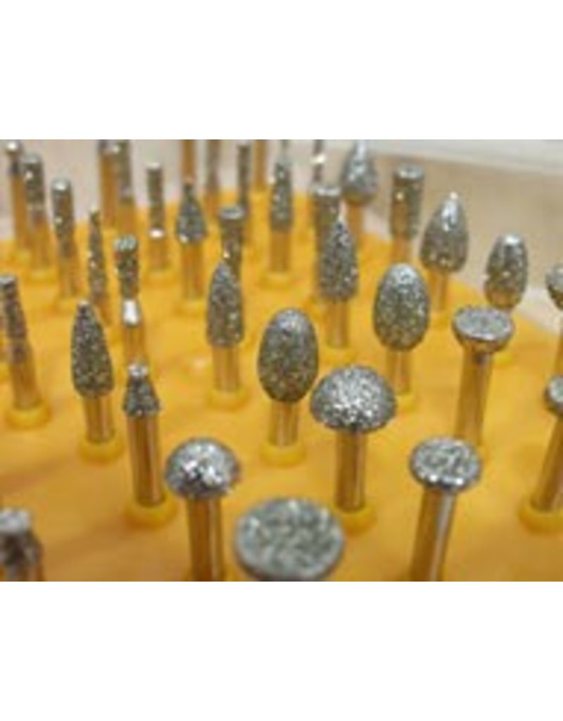 50pc Diamond Burr Set 1/8 Shank 40 Grit