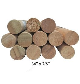 Mother Nature Wood 7/8'' Wooden Dowel Brown