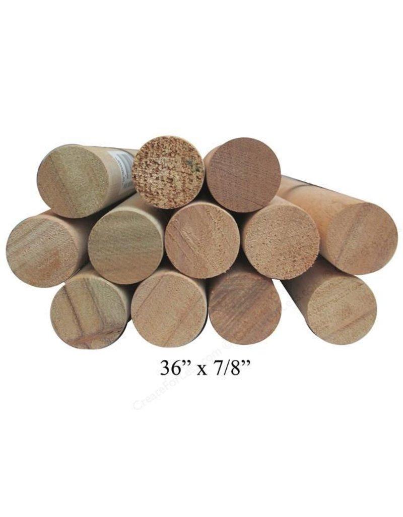 Wood 7/8'' Wooden Dowel Brown