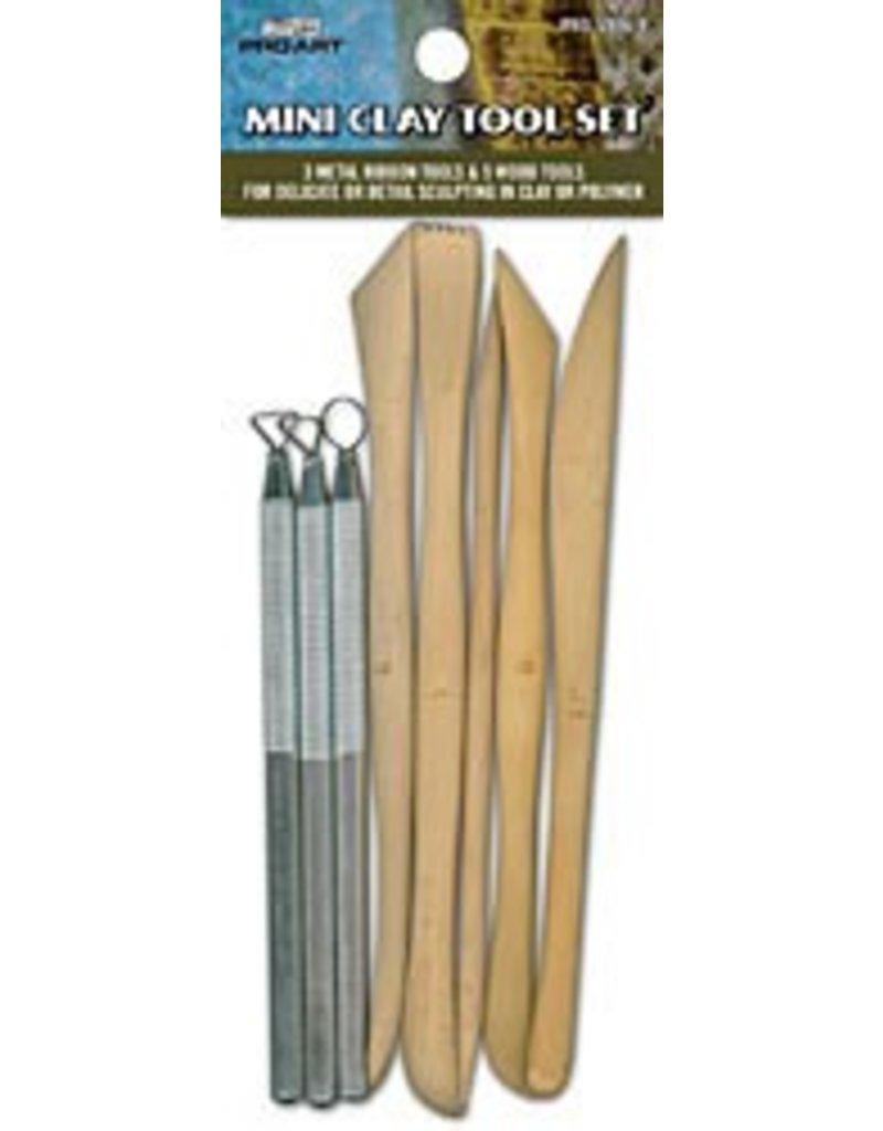 8pc Mini Clay Tool Set