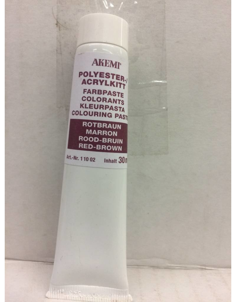 Akemi Akemi Polyester Color Paste Red/Brown