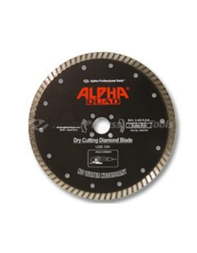Alpha Professional Tools Quad Diamond Blade 4in