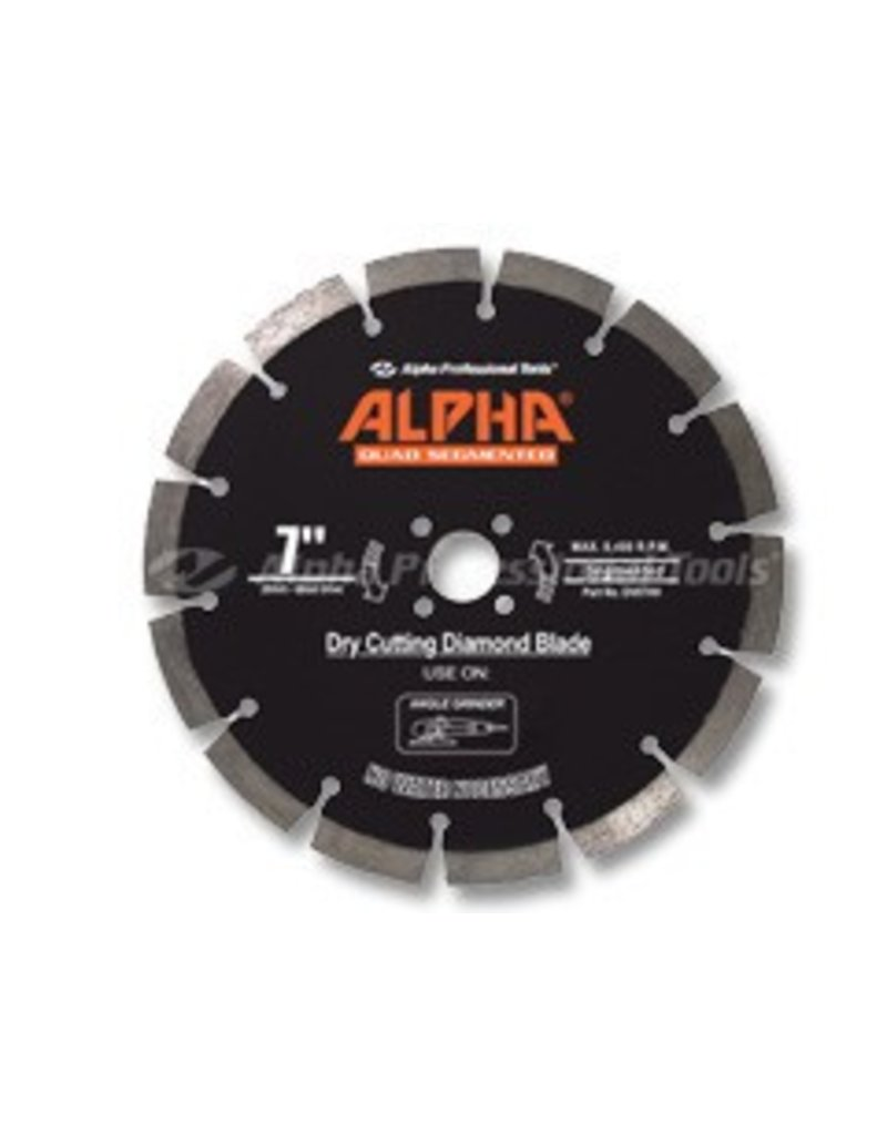 Alpha Quad Diamond Segmented Blade 7in