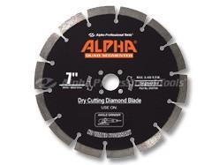 Alpha Quad Diamond Segmented Blade 7in