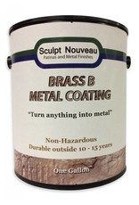 Sculpt Nouveau B Metal Coat Brass Gallon