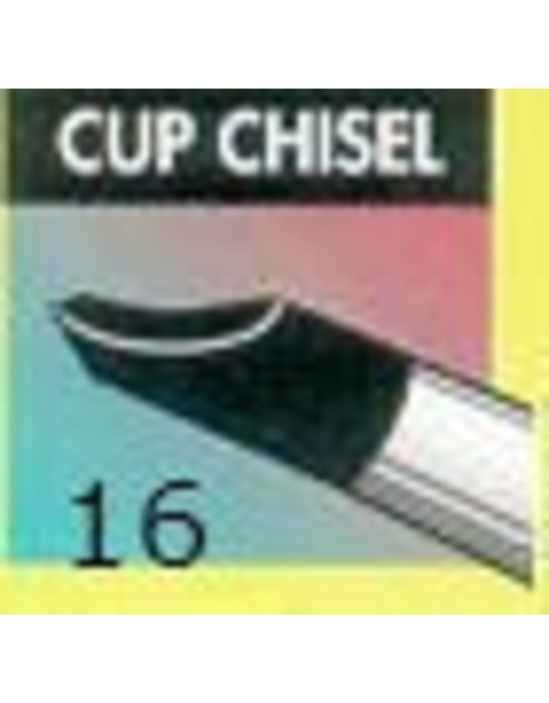 Clay Shaper Black Cup Chisel #16 Clayshaper