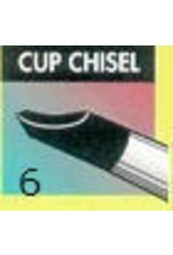 Clay Shaper Black Cup Chisel #6 Clayshaper