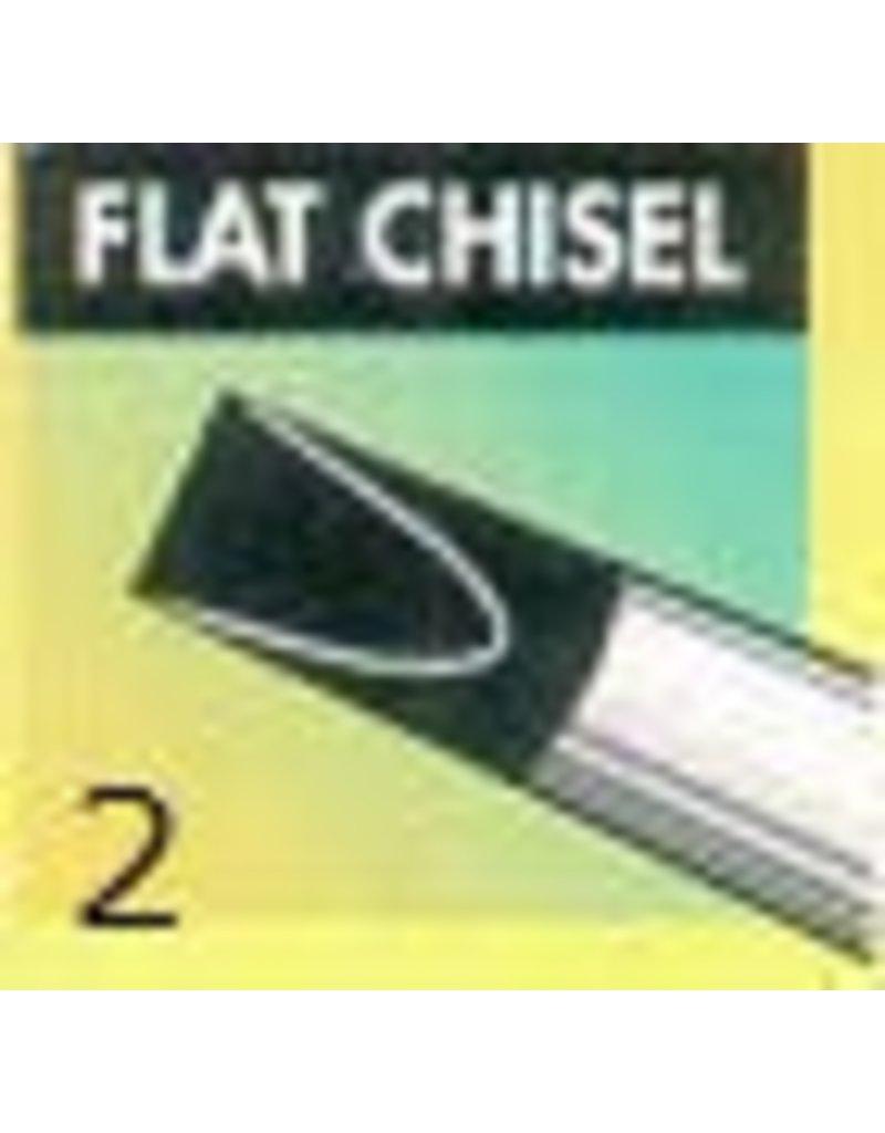 Clay Shaper Black Flat Chisel #2 Clayshaper