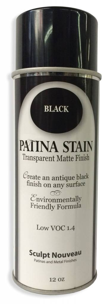 Sculpt Nouveau Black Patina Stain EF Matte 12oz Spray Can
