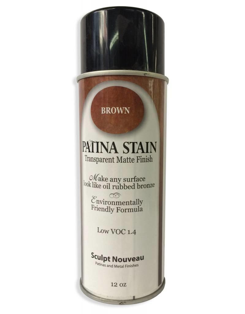 Sculpt Nouveau Brown Patina Stain EF Matte 12oz Spray Can