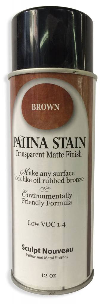 Sculpt Nouveau Brown Patina Stain EF Matte 12oz Spray Can