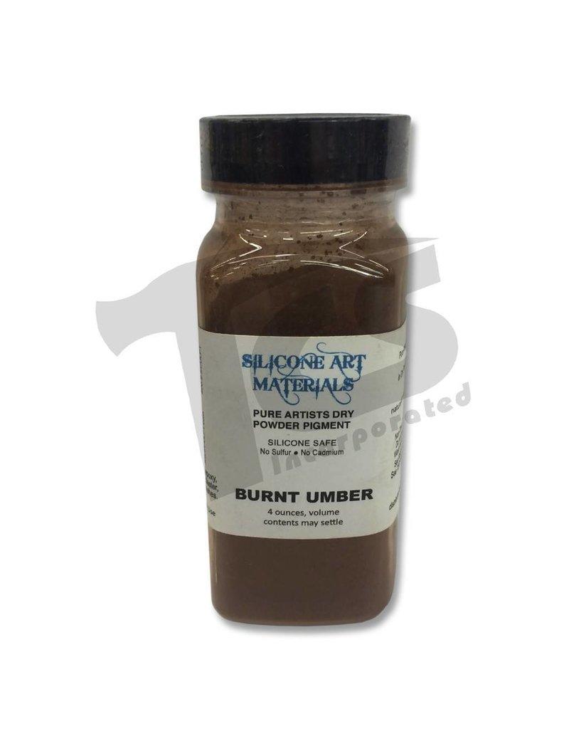 silicone art materials Dry Pigment Burnt Umber 4oz
