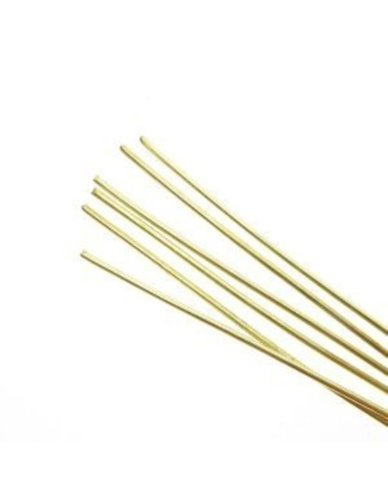Amaco, Inc. Soft Metal Rods Brass Medium 16 gauge