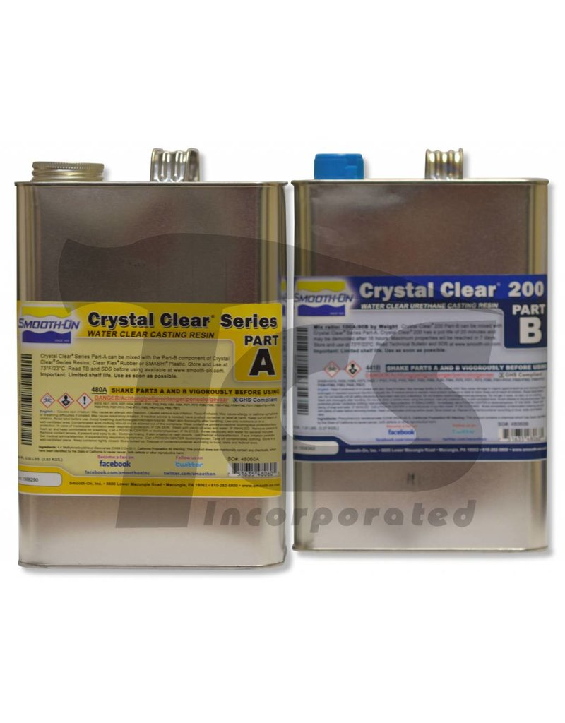 Smooth-On Crystal Clear 200 2 Gallon Kit
