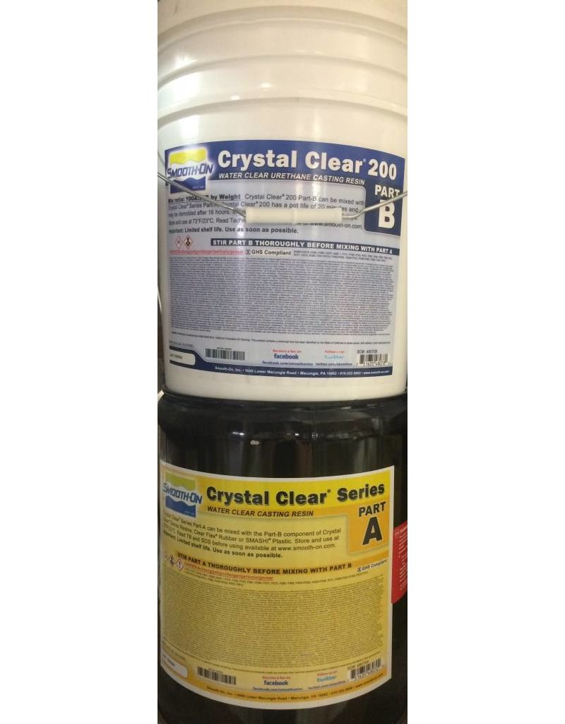 Smooth-On Crystal Clear 200 10 Gallon Kit