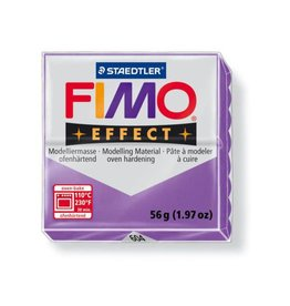 Fimo Soft Transparent Purple #604 2oz