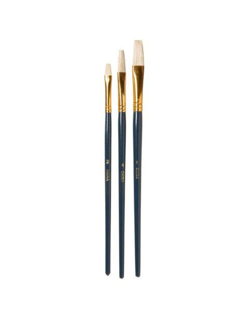Flat Brush Set #2,4,6