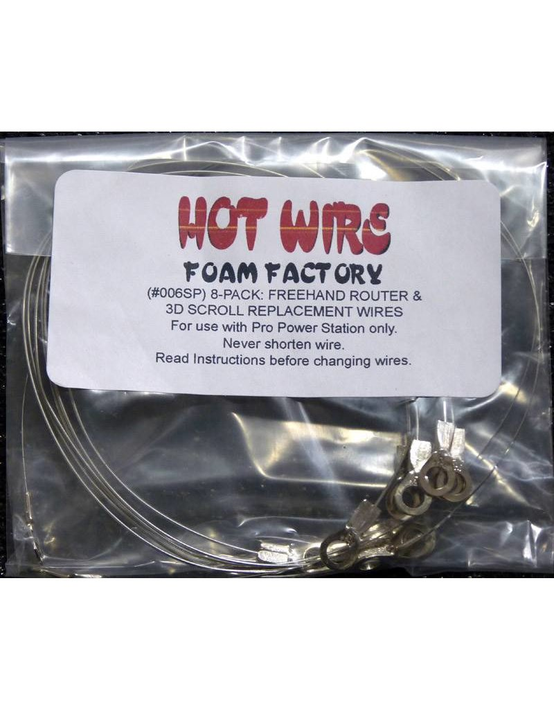 Hot Wire Foam Factory Freehand Rounter Replacement Wires (8-pack)