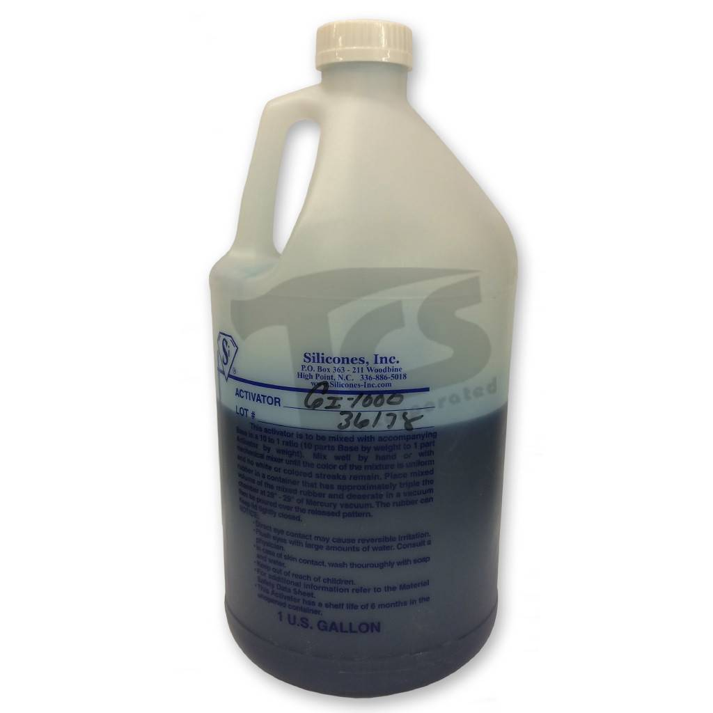 Silicones Inc. GI-1000 Catalyst Only 1/2 Gallon For 5 Gallon Kit