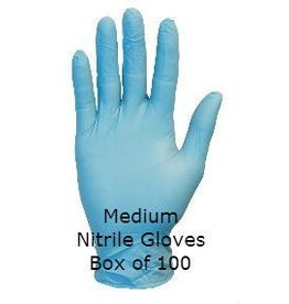 Blue Nitrile Gloves Medium Box