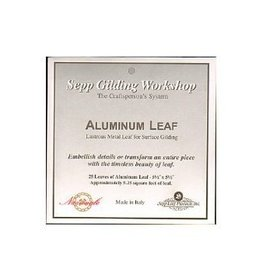 Sepp Leaf Aluminum Leaf Book 25 Sheets