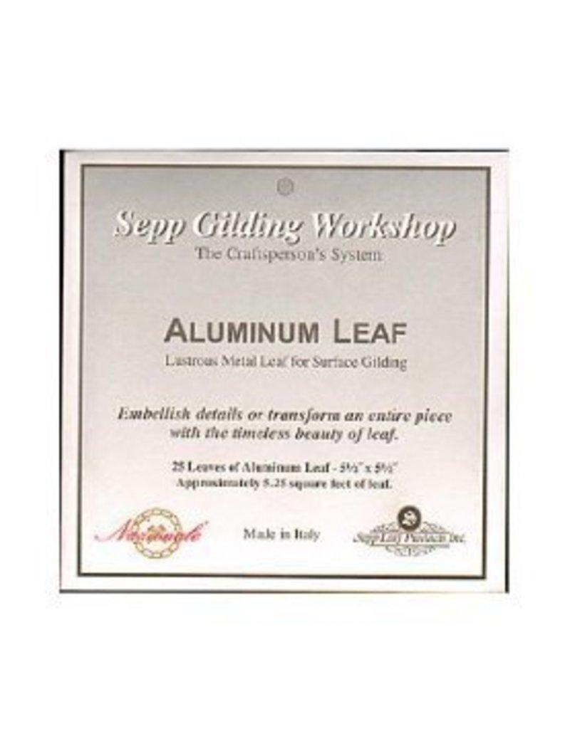 Sepp Leaf Aluminum Leaf Book 25 Sheets