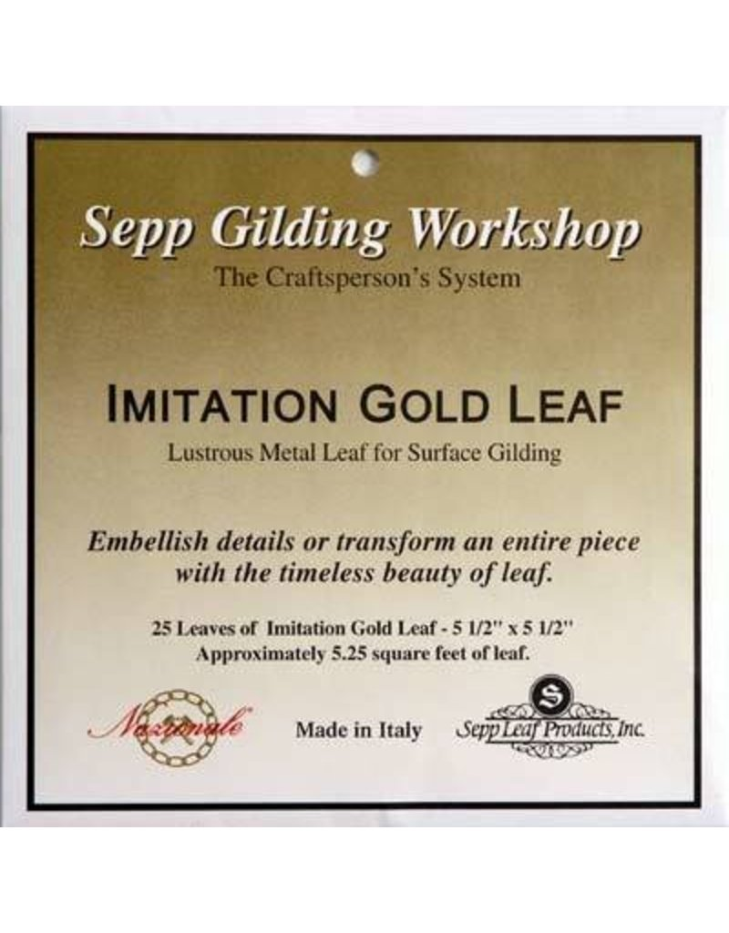 Sepp Leaf Imitation Gold Leaf Book 25 Sheets