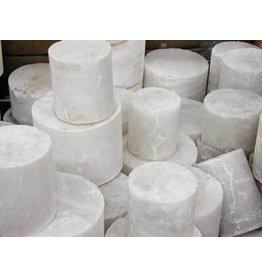 Stone Italian White Translucent Alabaster Cylinder Per Pound