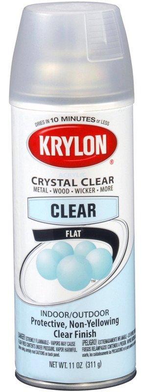 Krylon Krylon Acrylic Flat Spray 12oz Spray Can 3530