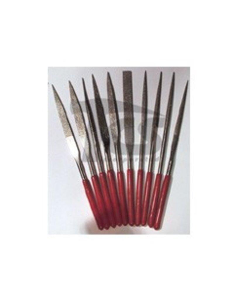 Large Diamond Needle File Set Fine 10pc