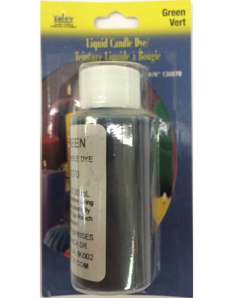 Yaley Enterprises Liquid Wax Dye Green 1oz