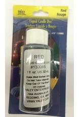 Yaley Enterprises Liquid Wax Dye Red 1oz