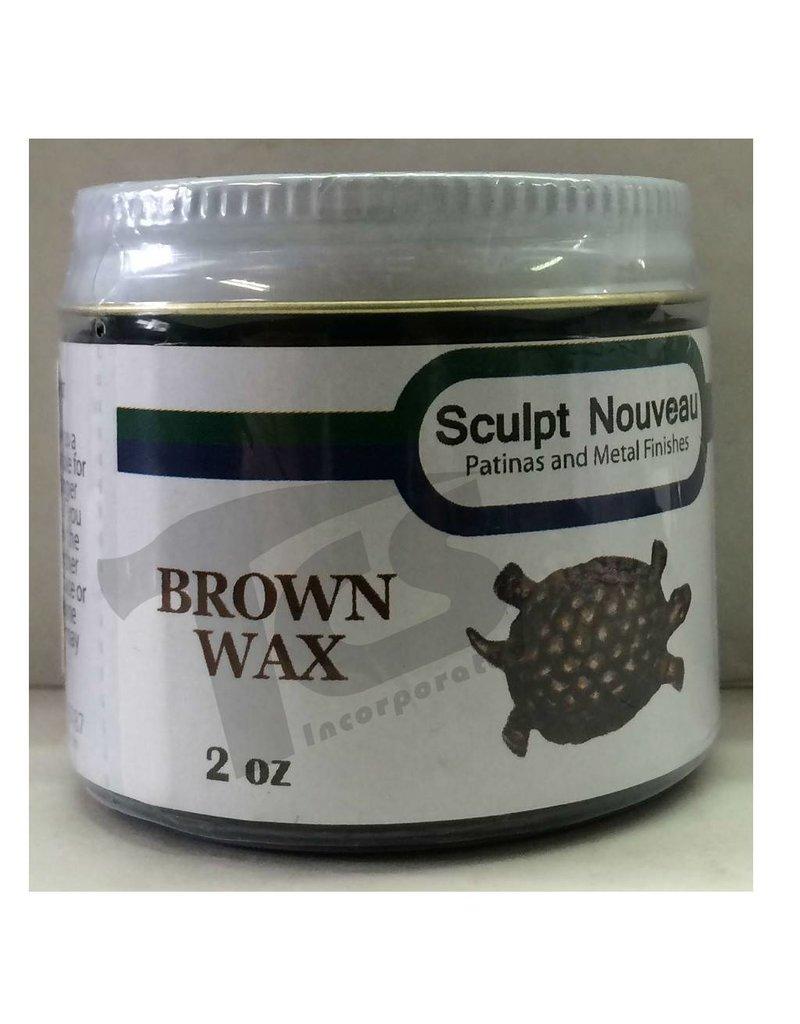 Sculpt Nouveau Metal Wax Brown 2oz