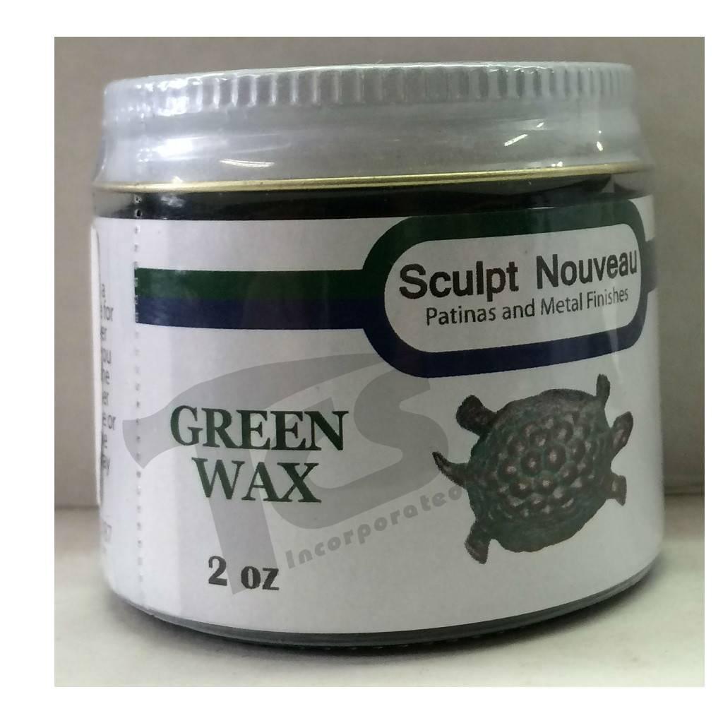 Sculpt Nouveau Metal Wax Green 2oz