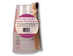 ETI Mixing Cup Set With Brushes