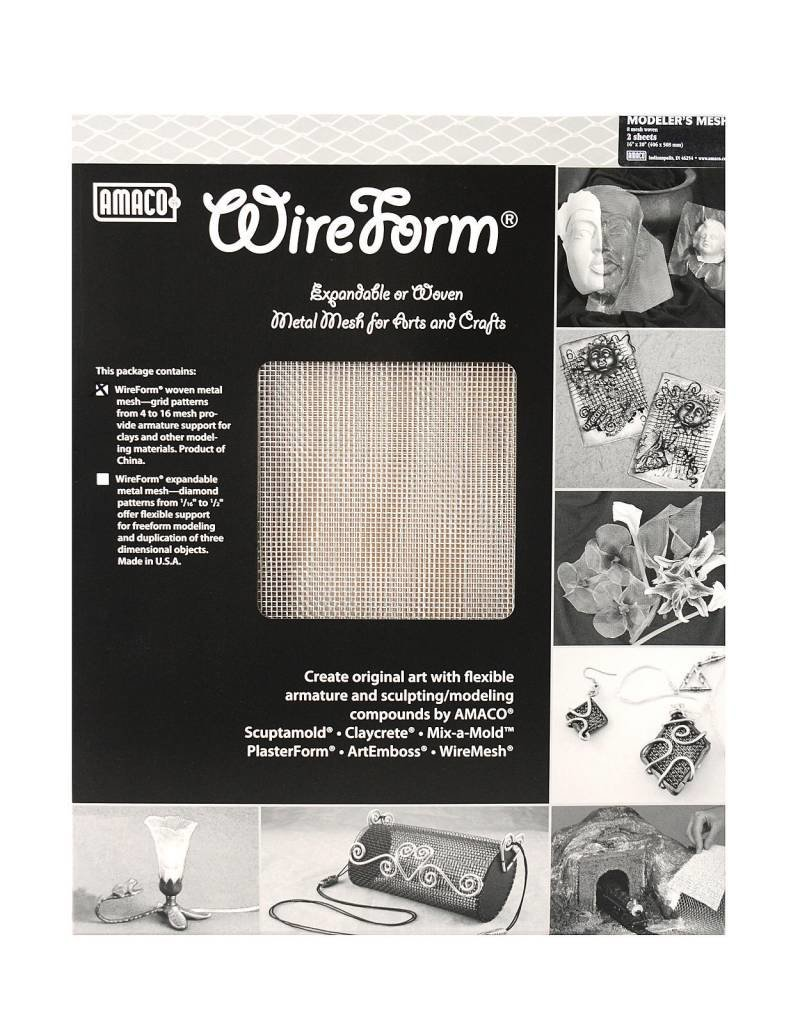 Amaco, Inc. Modelers Mesh 16''x20'' 2 Sheets Wireform