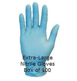 Blue Nitrile Gloves Extra Large Box