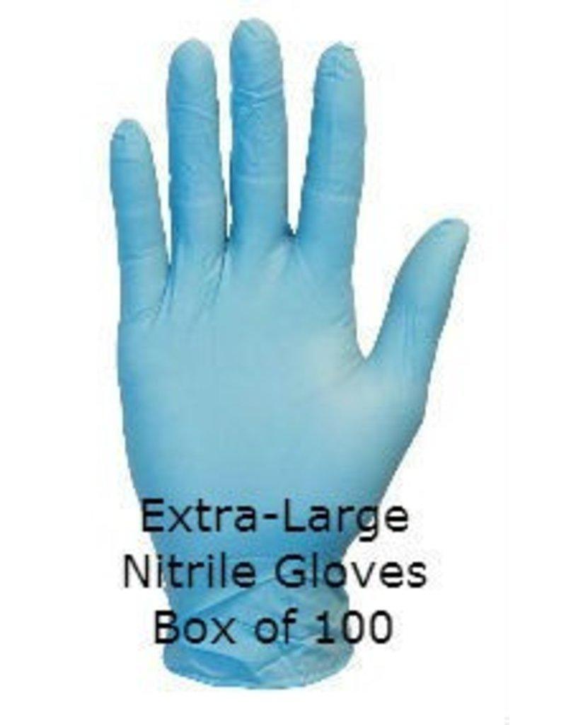 Blue Nitrile Gloves Extra Large Box