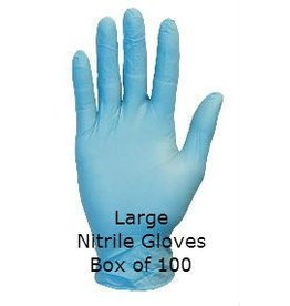 Blue Nitrile Gloves Large Box