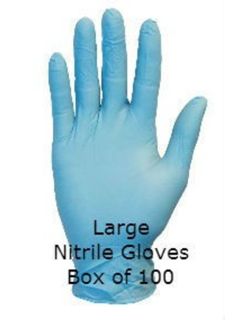 Blue Nitrile Gloves Powder Free Large Box